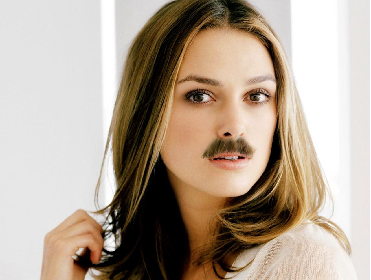 Actresses with mustaches