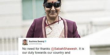 badass sushma swaraj cover