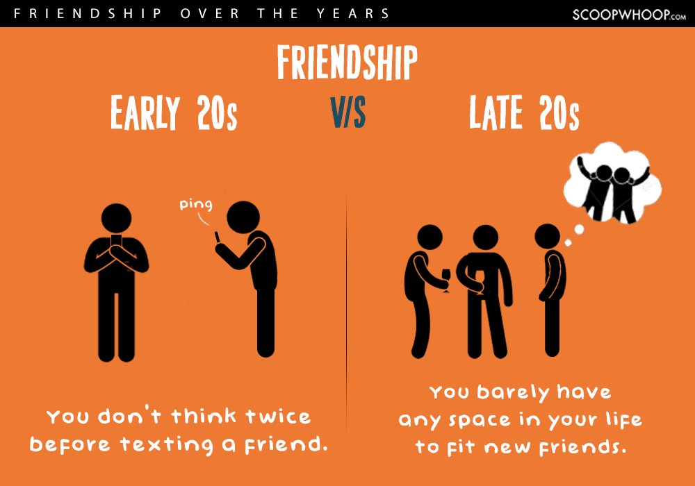 early twenties vs late twenties friendships 2