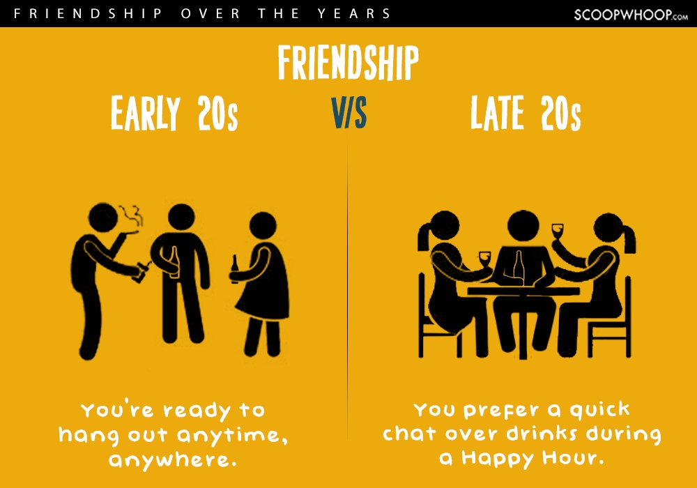 early twenties vs late twenties friendships 5