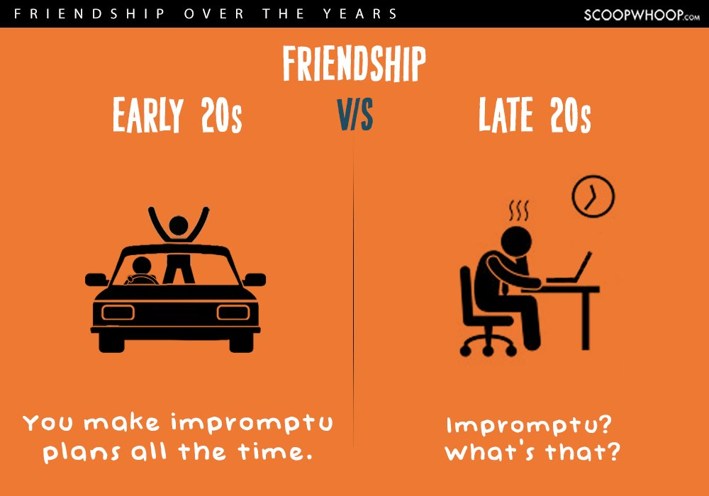 early twenties vs late twenties friendships 7