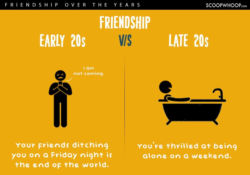 early twenties vs late twenties friendships 8