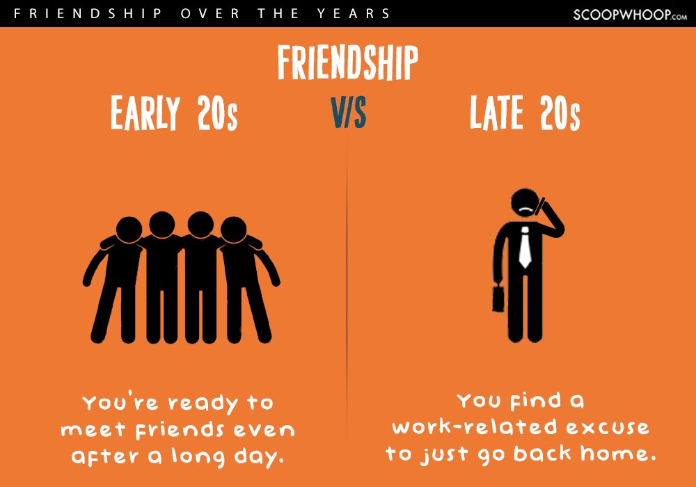early twenties vs late twenties friendships 9