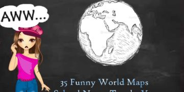 funny world maps cover