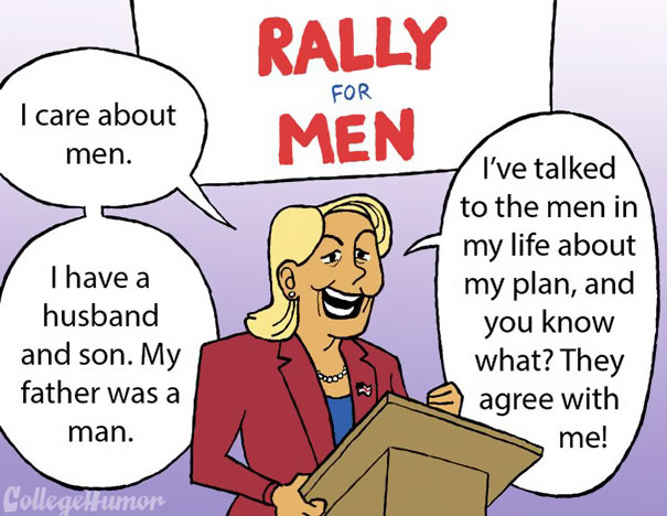 government treated men like women