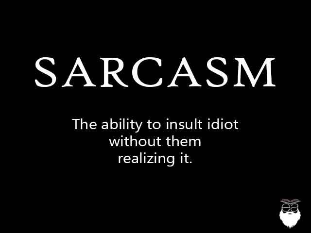 sarcastic vocabulary 15