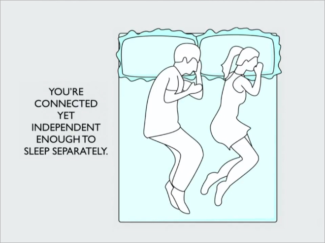 sleeping position say about your relationship 1
