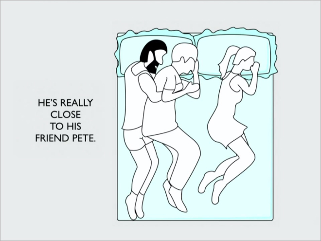 sleeping position say about your relationship 2