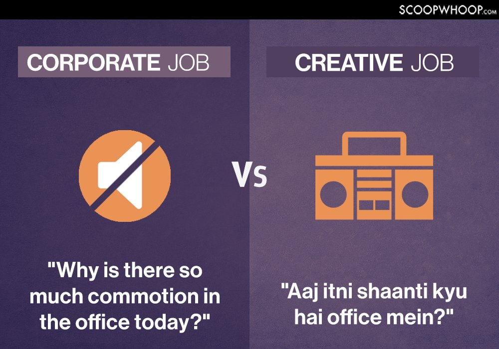 corporate vs creative jobs