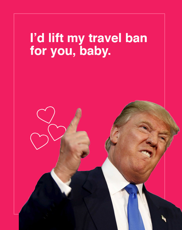 trump valentine cards