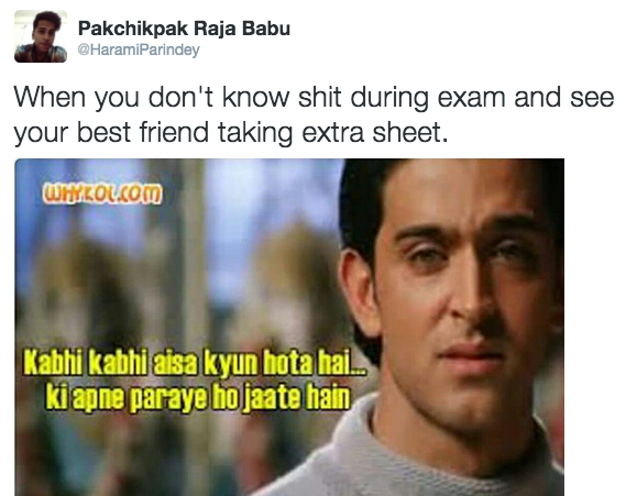 tweets about exam