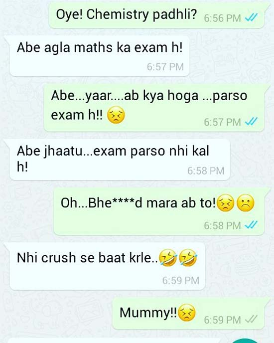 Social Media: Funny Chats on WhatsApp Hindi / Urdu |Funny Whatsapp Chats