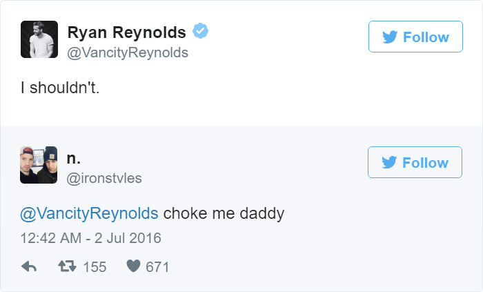 Ryan Reynold's Funny Tweets To Horny Fans' Are The Most ...