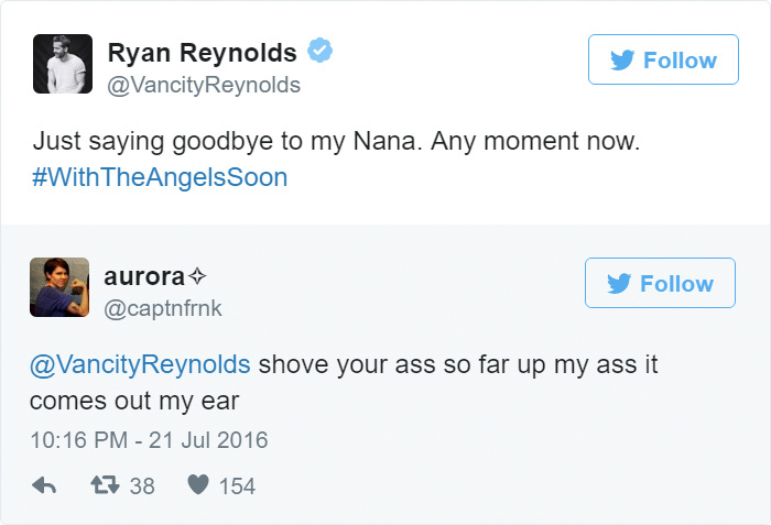 ryan reynolds funny tweets