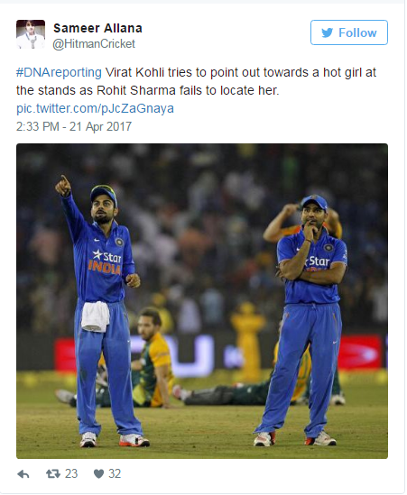 dna reporting kohli caught gazing