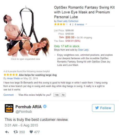 funny pornhub tweets