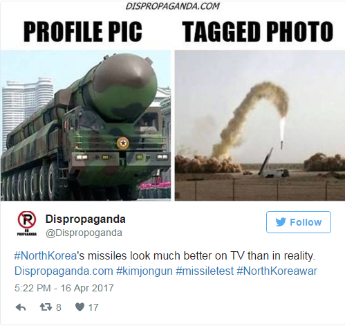 reactions on north korea's missile launch failure