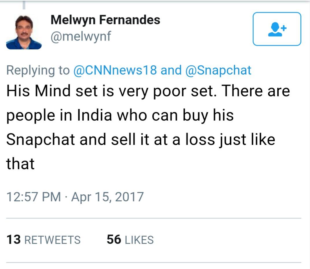 snapchat CEO statement