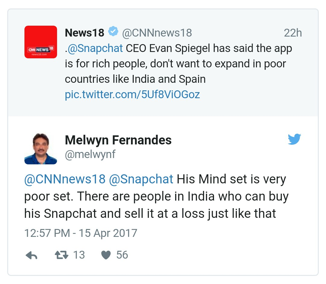 snapchat CEO statement