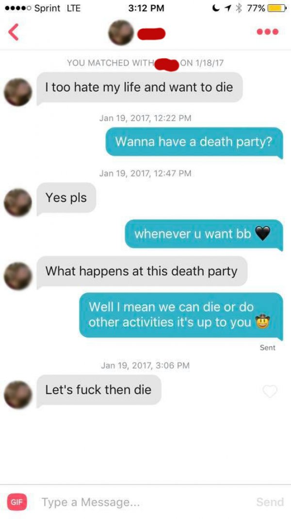 funny tinder interactions