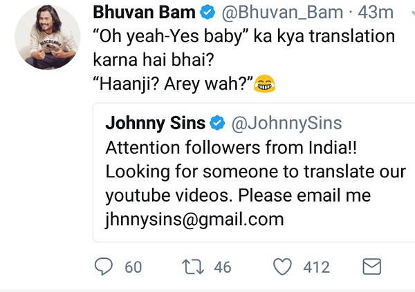 Johnny Sins Asked Indian Fans