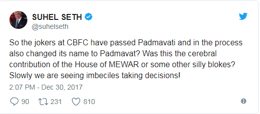 cbfc passed padmavati movie