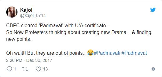 cbfc passed padmavati movie