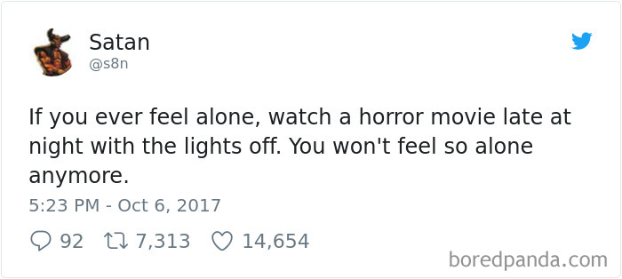 funny satan tweets