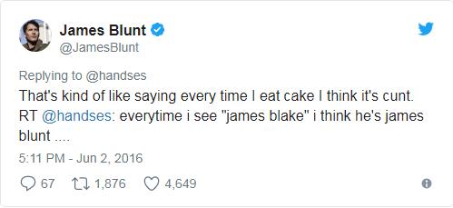 james blunt tweets