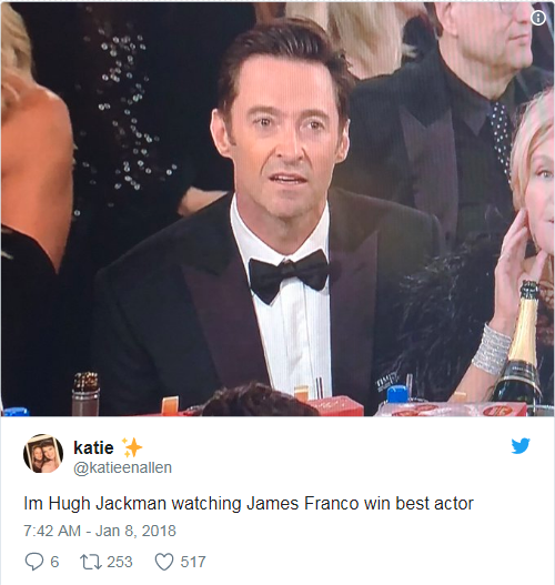 hugh jackman reaction
