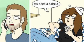 Girlfriend Draws Her Everyday Life With Boyfriend